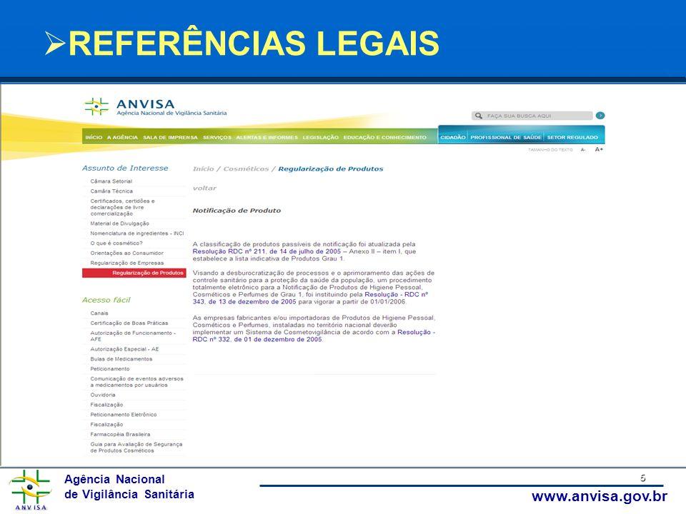 REFERÊNCIAS LEGAIS