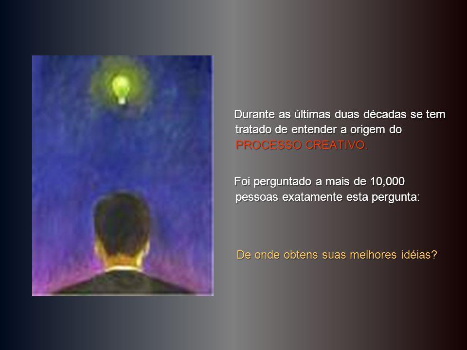 Durante as últimas duas décadas se tem tratado de entender a origem do PROCESSO CREATIVO.