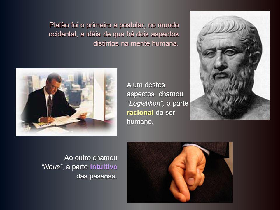 Platão foi o primeiro a postular, no mundo ocidental, a idéia de que há dois aspectos distintos na mente humana.