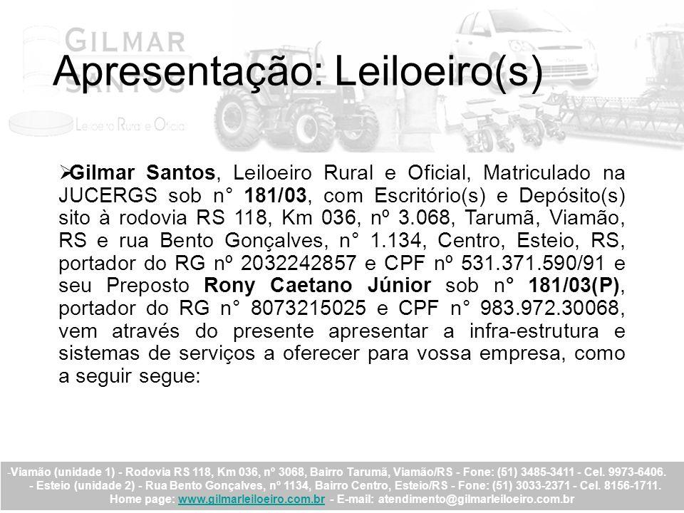 Apresentação: Leiloeiro(s)