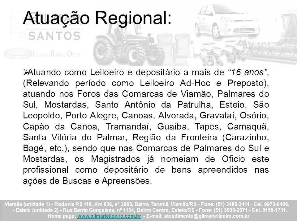 Atuação Regional: