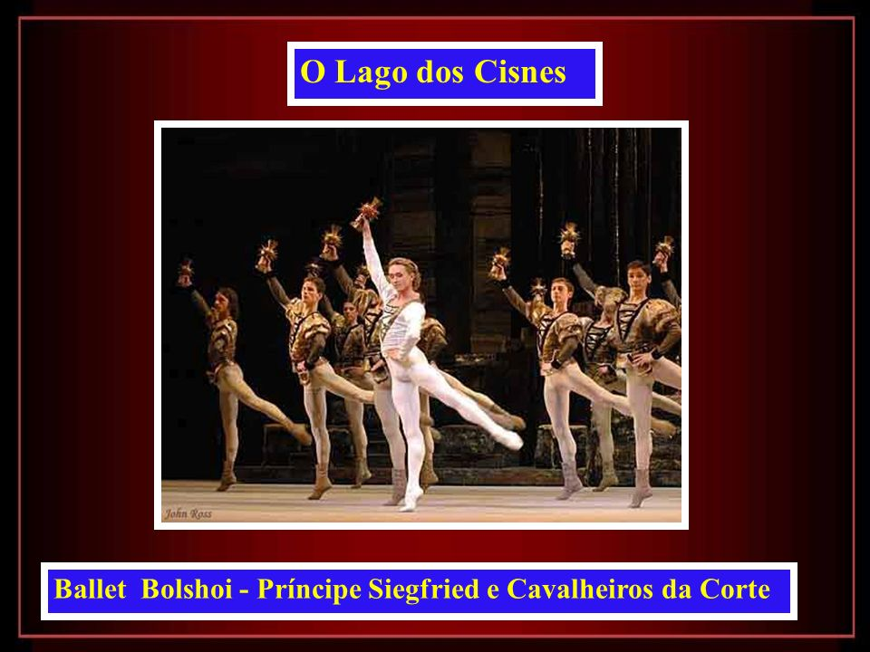 O Lago dos Cisnes Ballet Bolshoi - Príncipe Siegfried e Cavalheiros da Corte