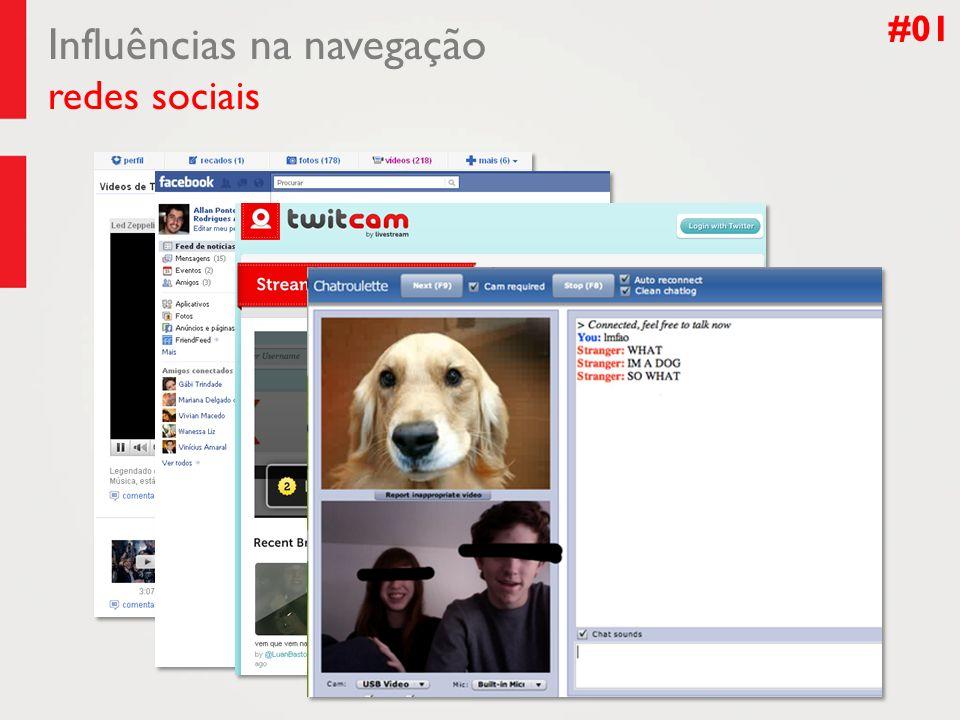 Influências na navegação redes sociais