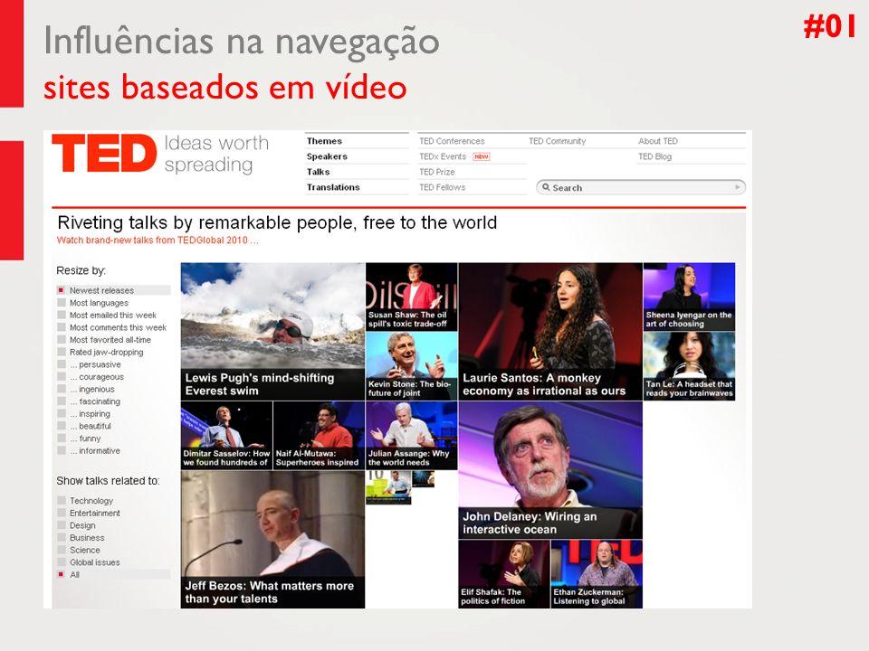 Influências na navegação sites baseados em vídeo