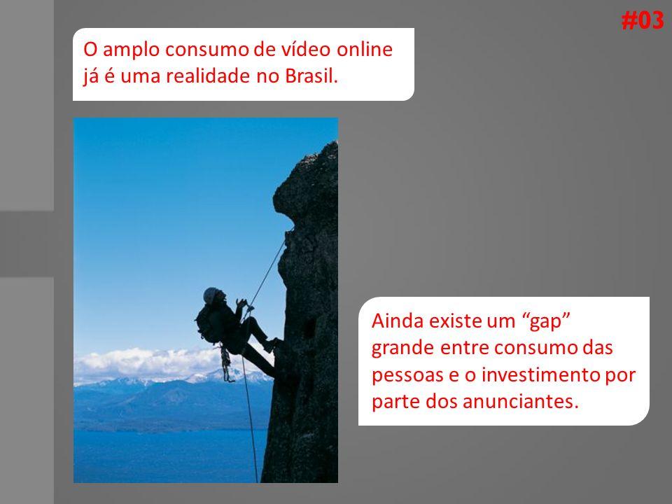 #03 O amplo consumo de vídeo online já é uma realidade no Brasil.