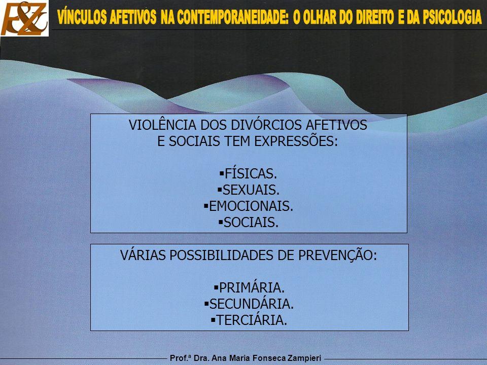 VIOLÊNCIA DOS DIVÓRCIOS AFETIVOS E SOCIAIS TEM EXPRESSÕES: