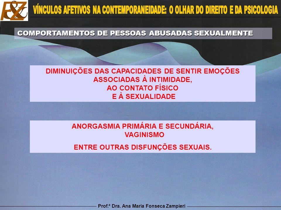 COMPORTAMENTOS DE PESSOAS ABUSADAS SEXUALMENTE
