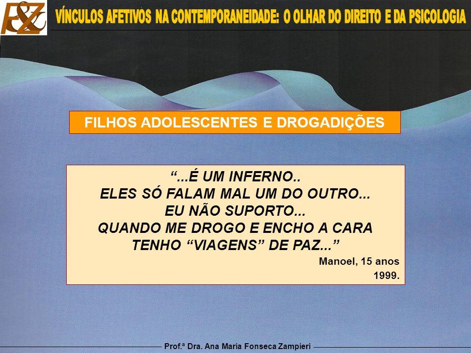 FILHOS ADOLESCENTES E DROGADIÇÕES