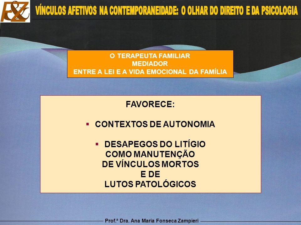 ENTRE A LEI E A VIDA EMOCIONAL DA FAMÍLIA CONTEXTOS DE AUTONOMIA