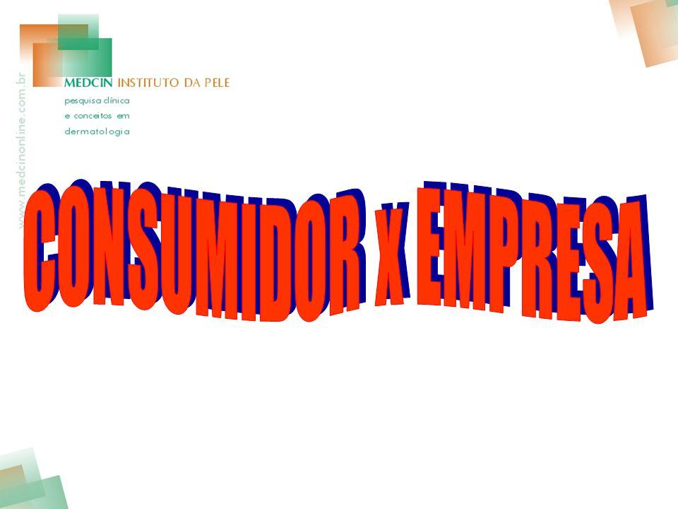 CONSUMIDOR x EMPRESA
