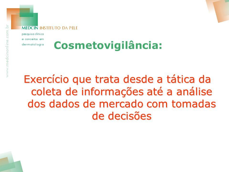 Cosmetovigilância: Exercício que trata desde a tática da coleta de informações até a análise dos dados de mercado com tomadas de decisões.