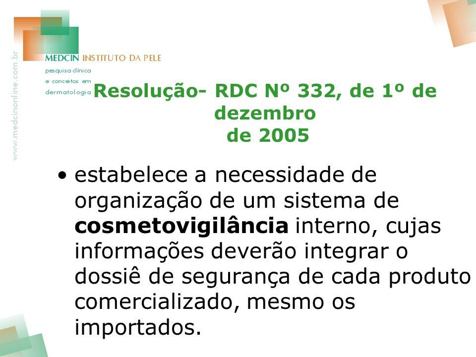 Resolução- RDC Nº 332, de 1º de dezembro de 2005
