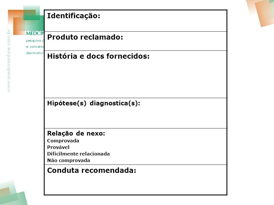 História e docs fornecidos:
