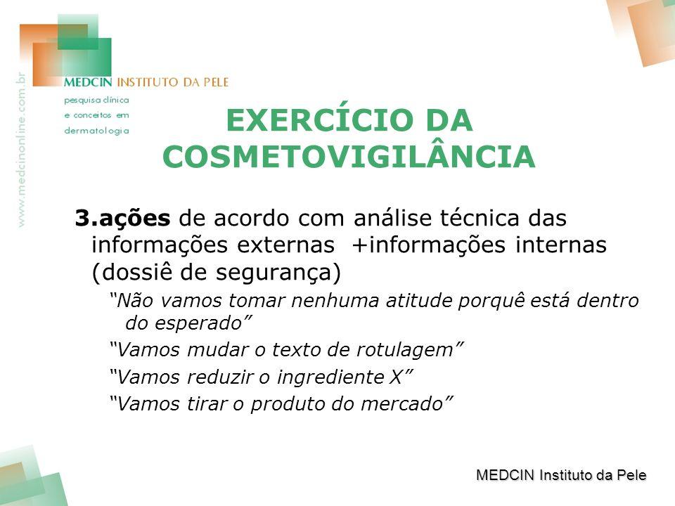 EXERCÍCIO DA COSMETOVIGILÂNCIA
