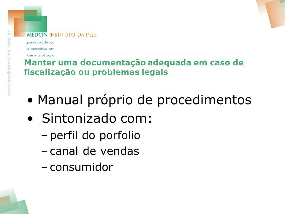 Manual próprio de procedimentos Sintonizado com: