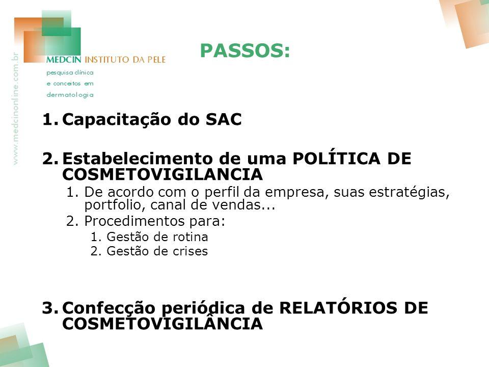 PASSOS: Capacitação do SAC