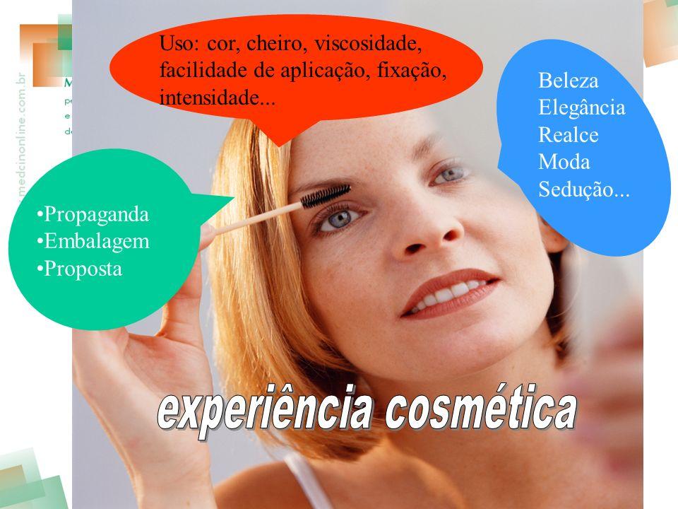 experiência cosmética