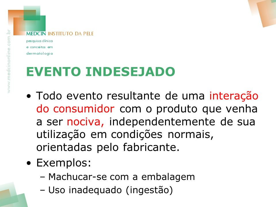 EVENTO INDESEJADO