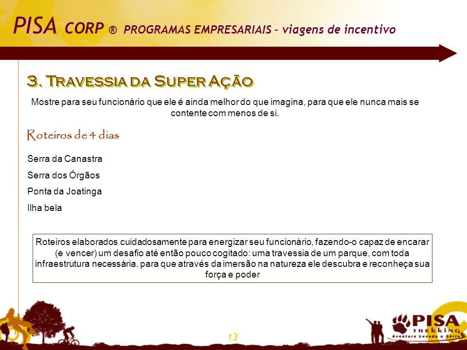 PISA CORP ® PROGRAMAS EMPRESARIAIS – viagens de incentivo