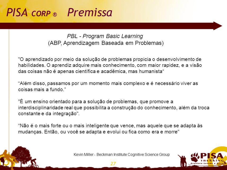 PISA CORP ® Premissa PBL - Program Basic Learning