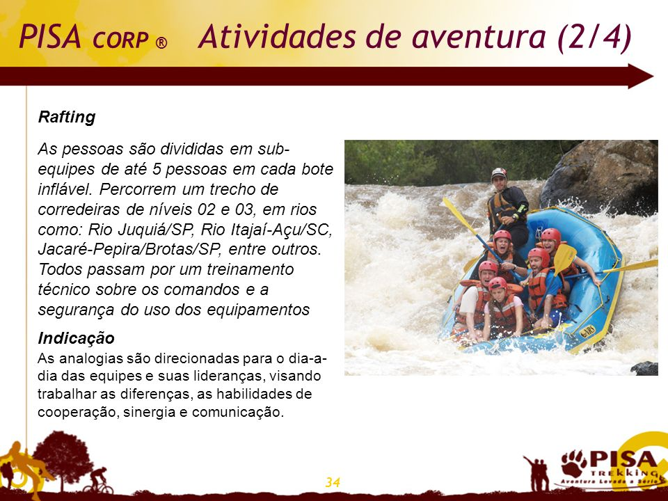 PISA CORP ® Atividades de aventura (2/4)