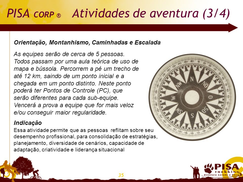 PISA CORP ® Atividades de aventura (3/4)