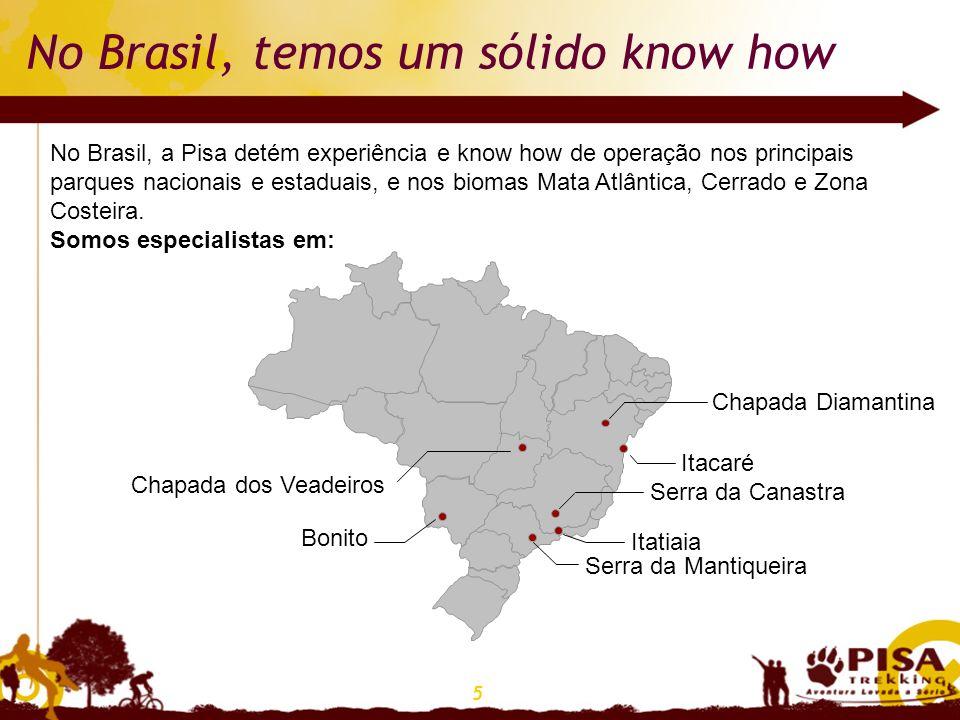 No Brasil, temos um sólido know how