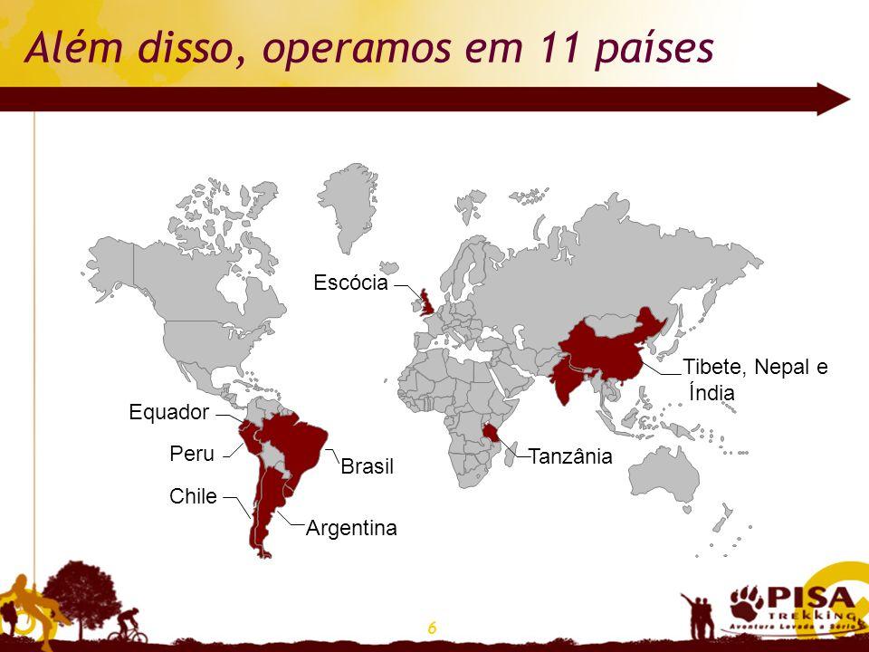 Além disso, operamos em 11 países