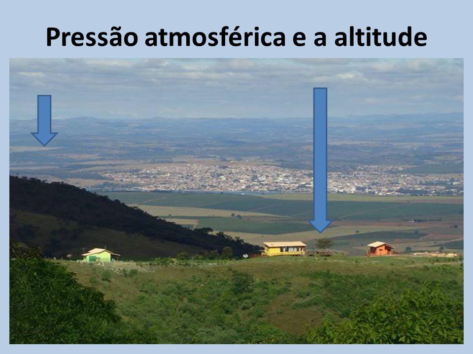 Pressão atmosférica e a altitude