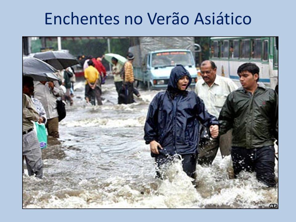 Enchentes no Verão Asiático