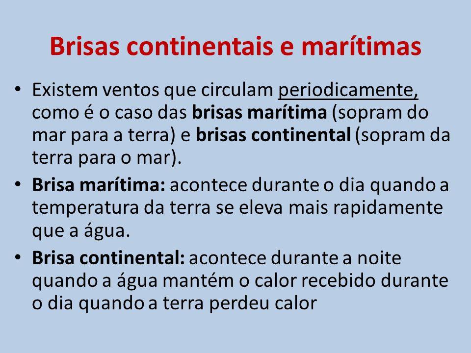 Brisas continentais e marítimas
