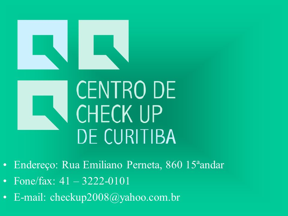Endereço: Rua Emiliano Perneta, 860 15ªandar