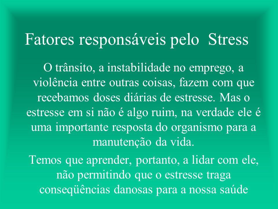 Fatores responsáveis pelo Stress