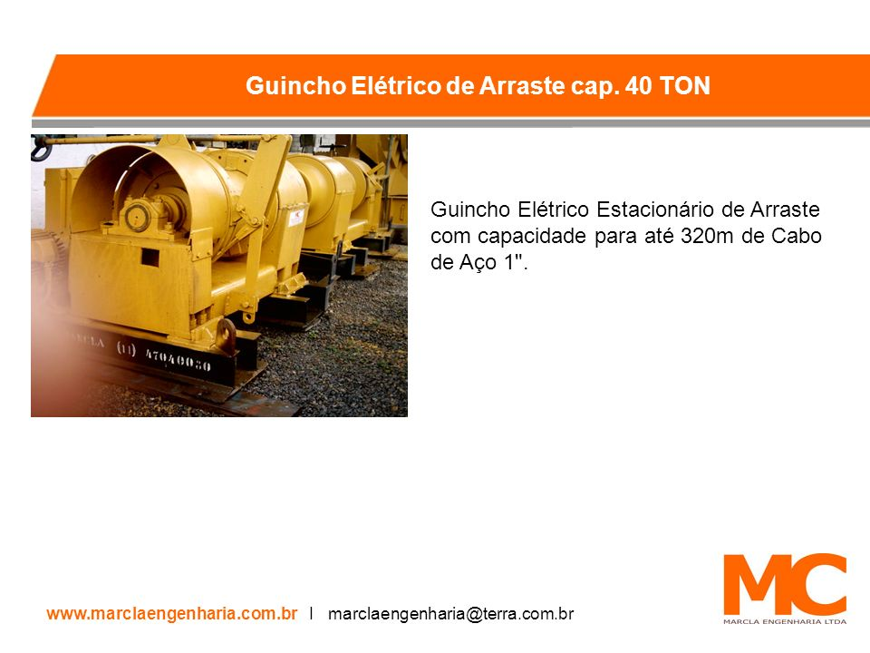 Guincho Elétrico de Arraste cap. 40 TON