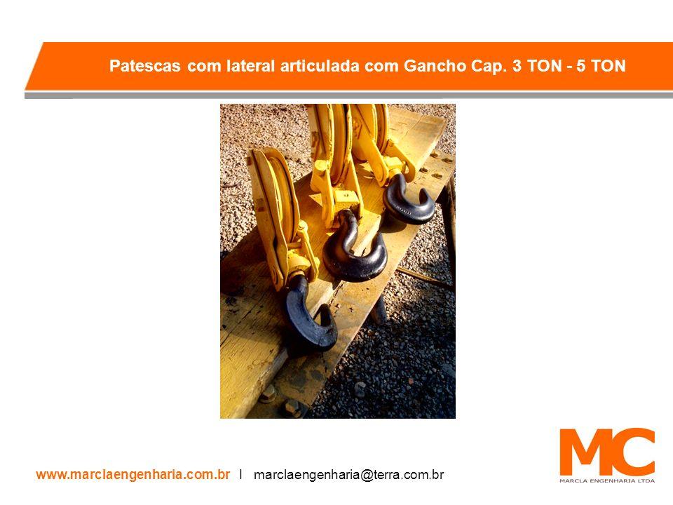 Patescas com lateral articulada com Gancho Cap. 3 TON - 5 TON