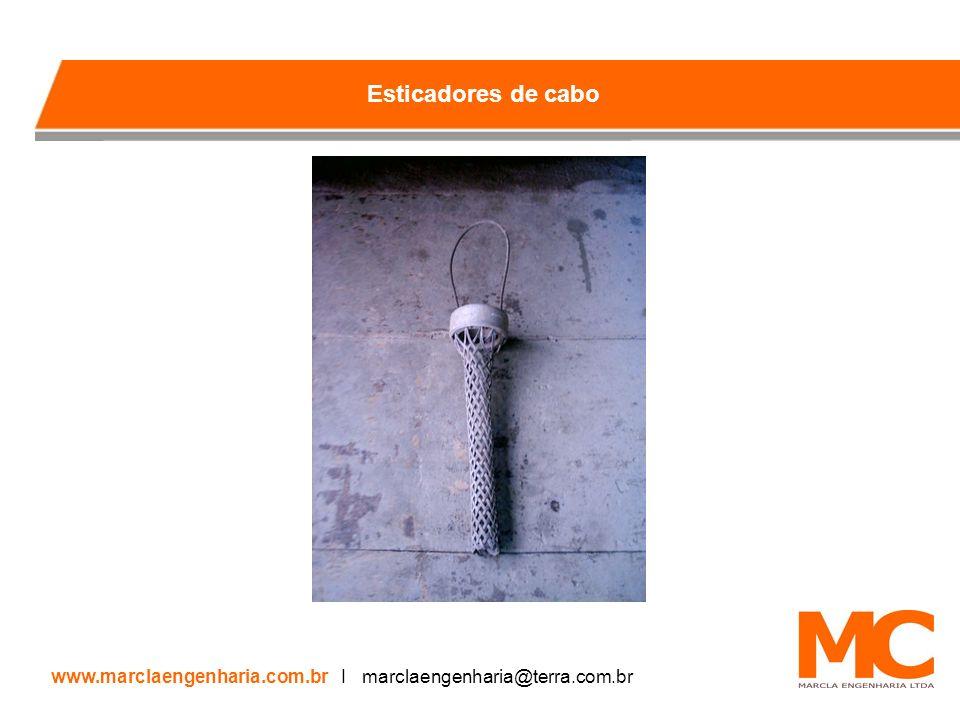 Esticadores de cabo www.marclaengenharia.com.br I marclaengenharia@terra.com.br