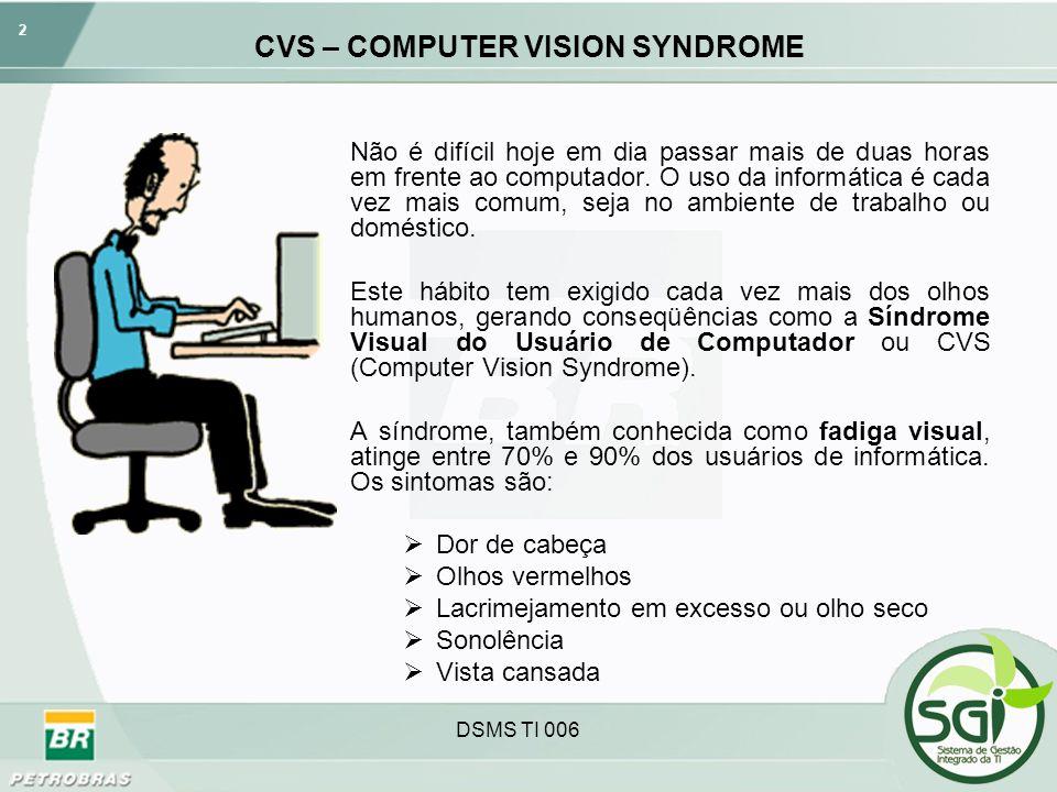 CVS – COMPUTER VISION SYNDROME