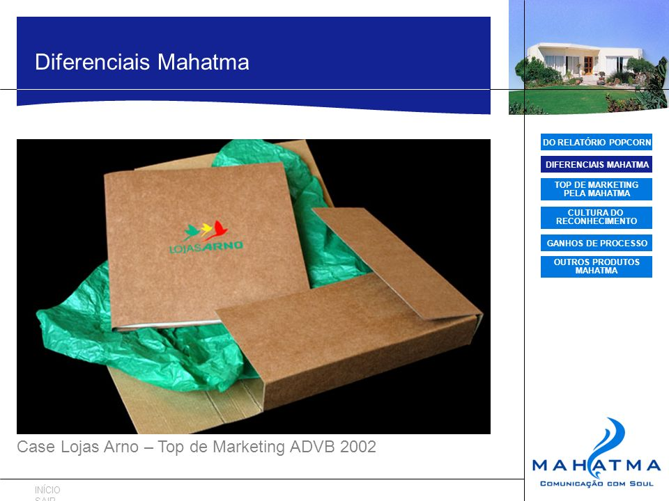 Diferenciais Mahatma Case Lojas Arno – Top de Marketing ADVB 2002