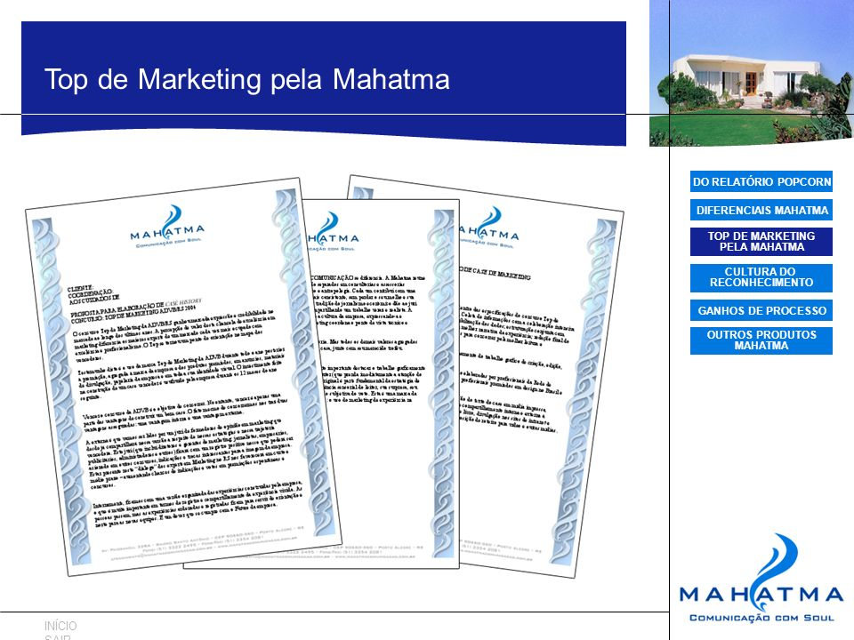 TOP DE MARKETING PELA MAHATMA