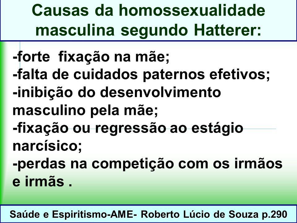 Causas da homossexualidade masculina segundo Hatterer: