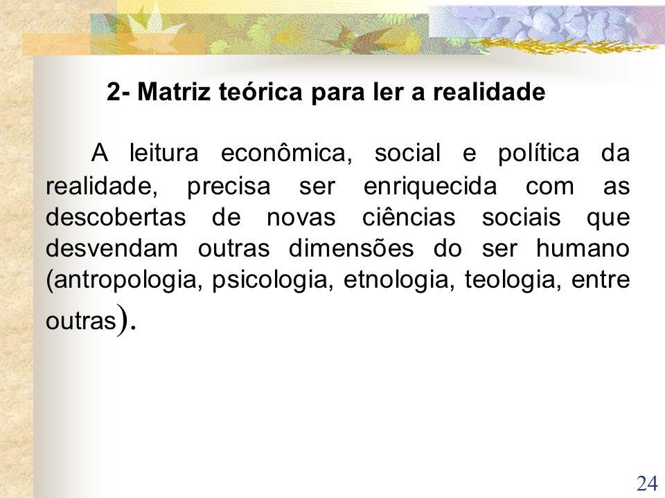 2- Matriz teórica para ler a realidade