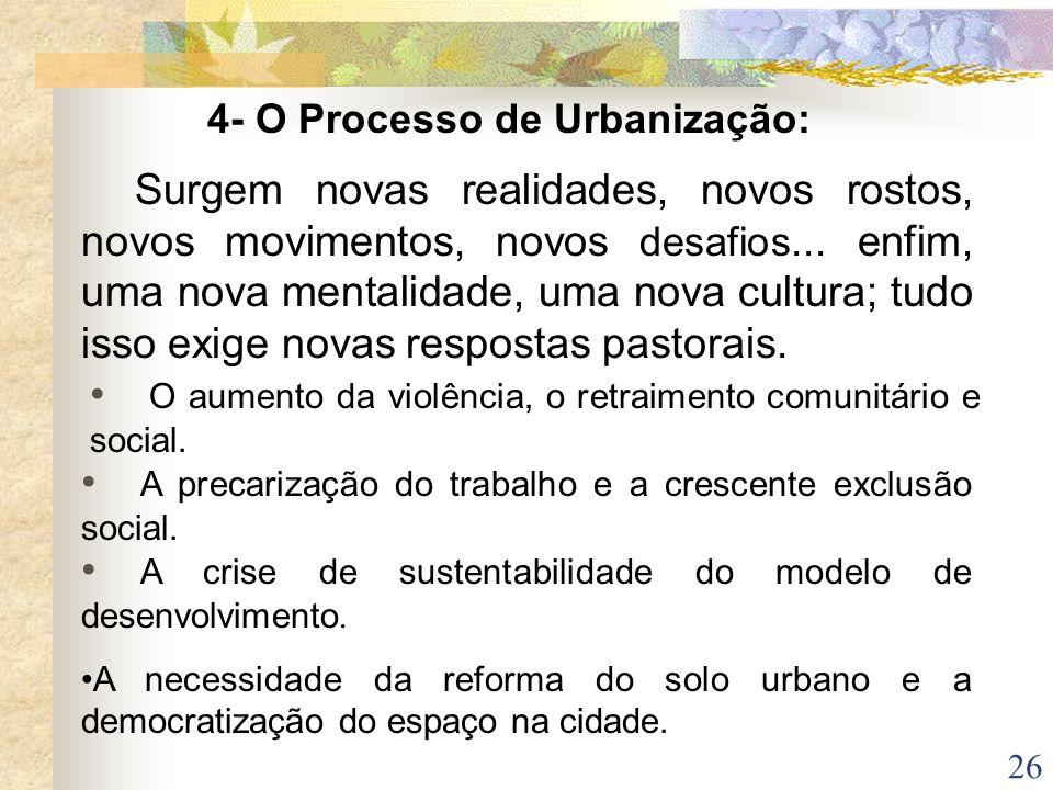 4- O Processo de Urbanização: