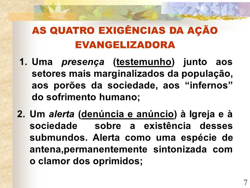 AS QUATRO EXIGÊNCIAS DA AÇÃO EVANGELIZADORA