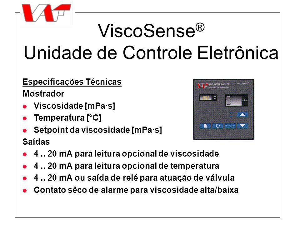 ViscoSense® Unidade de Controle Eletrônica