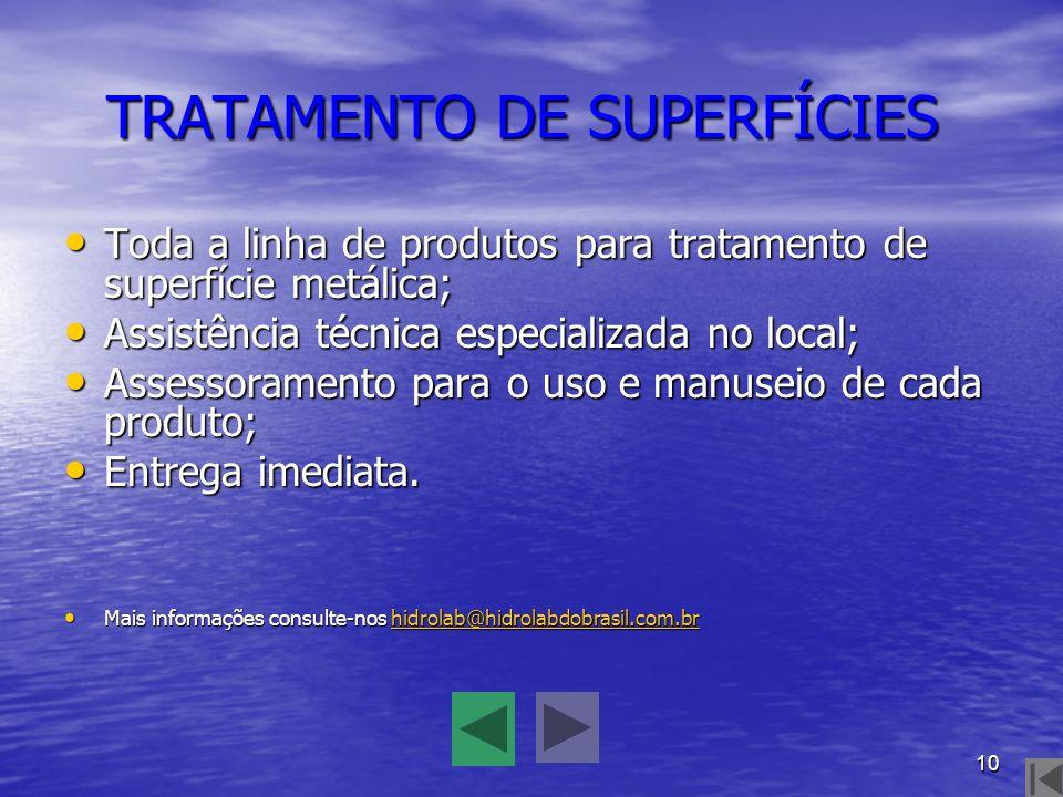 TRATAMENTO DE SUPERFÍCIES