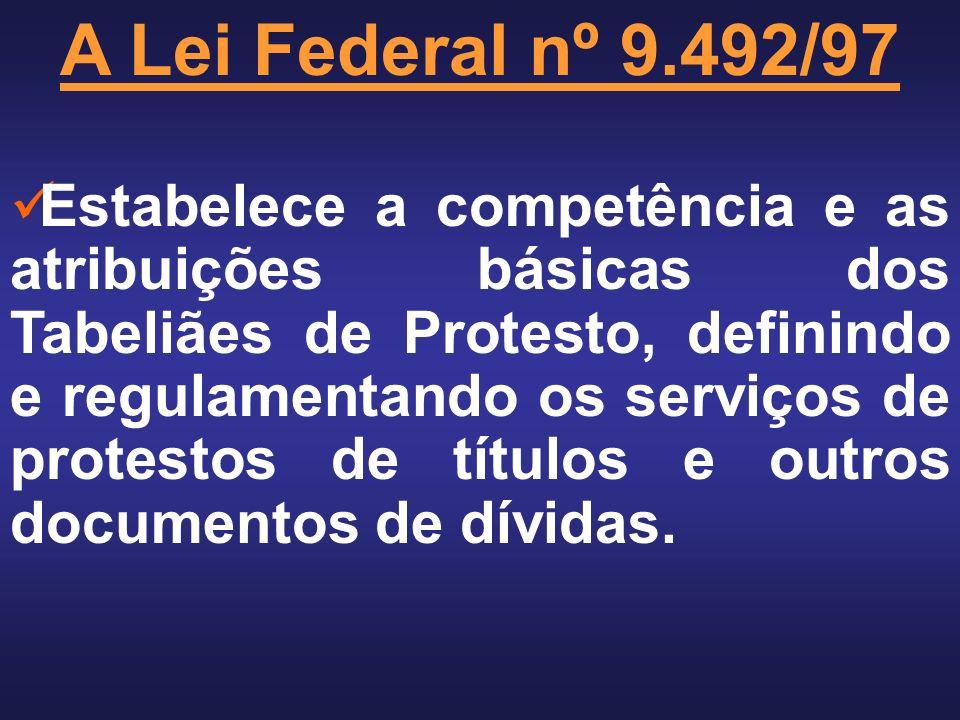A Lei Federal nº 9.492/97
