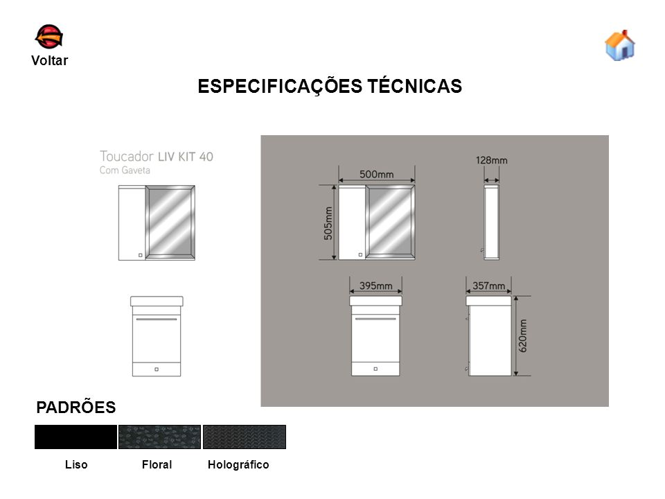 ESPECIFICAÇÕES TÉCNICAS