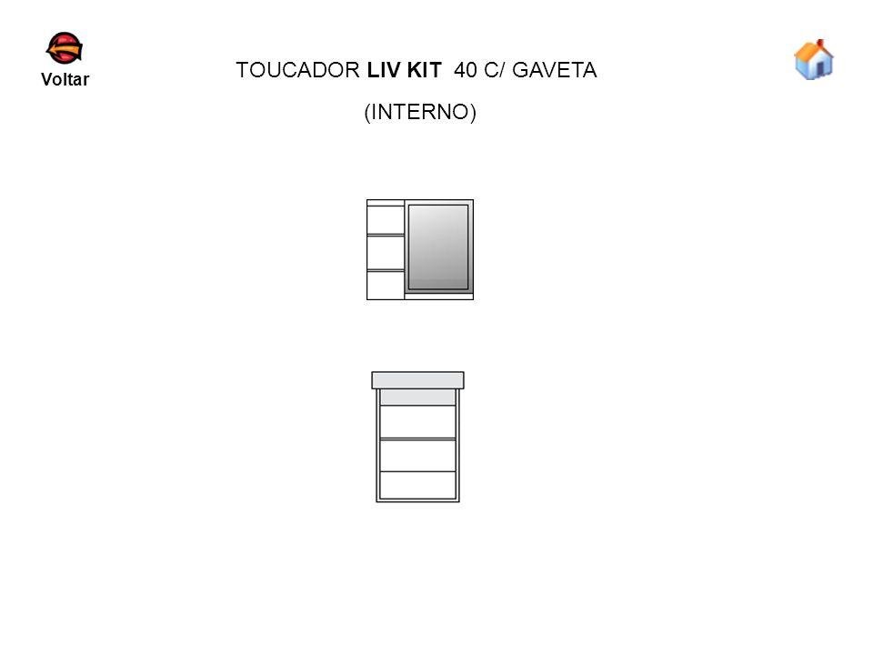 TOUCADOR LIV KIT 40 C/ GAVETA