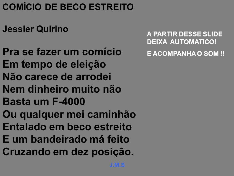 COMÍCIO DE BECO ESTREITO
