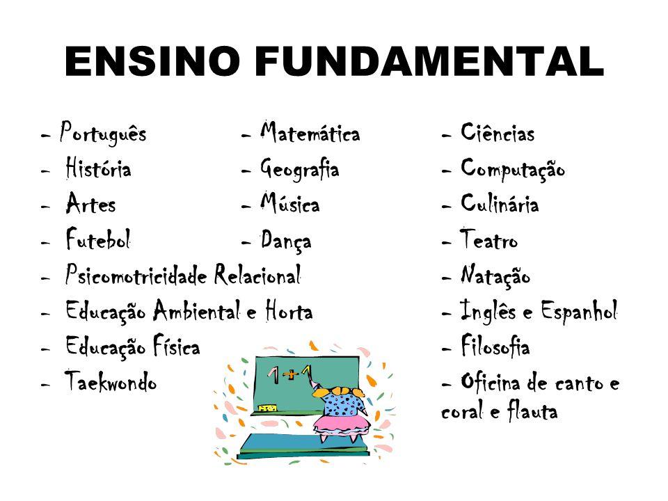 ENSINO FUNDAMENTAL - Português - Matemática - Ciências